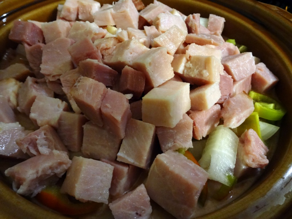 asembled ham curry beef crockpot