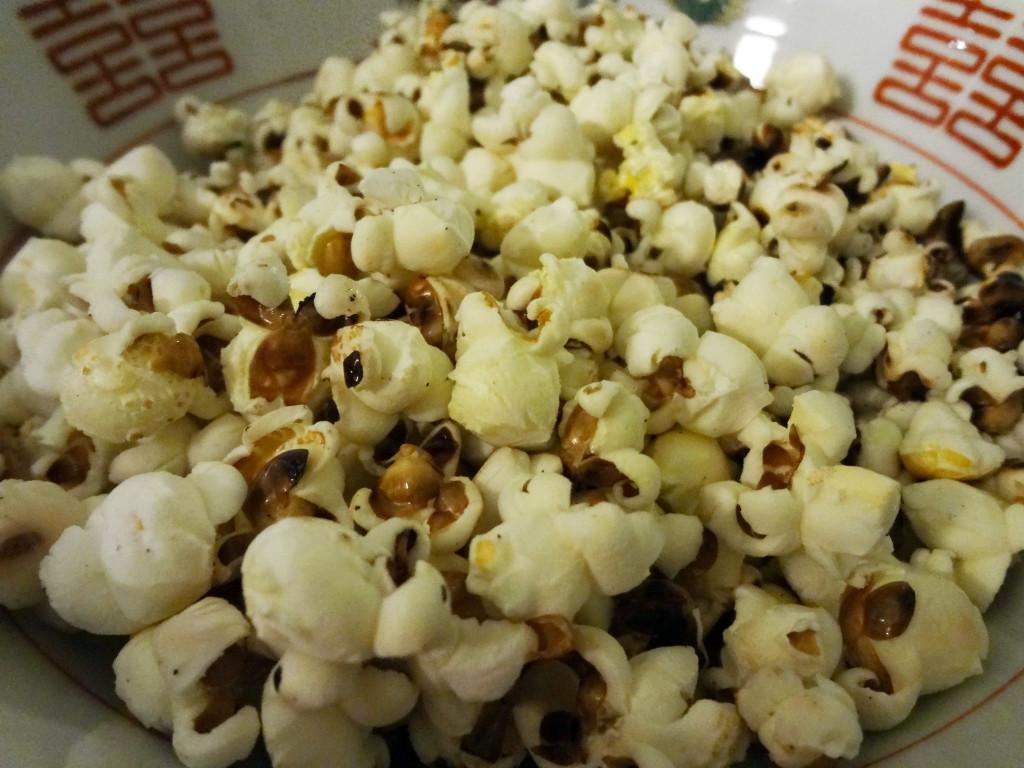 Finished homemade popcorn