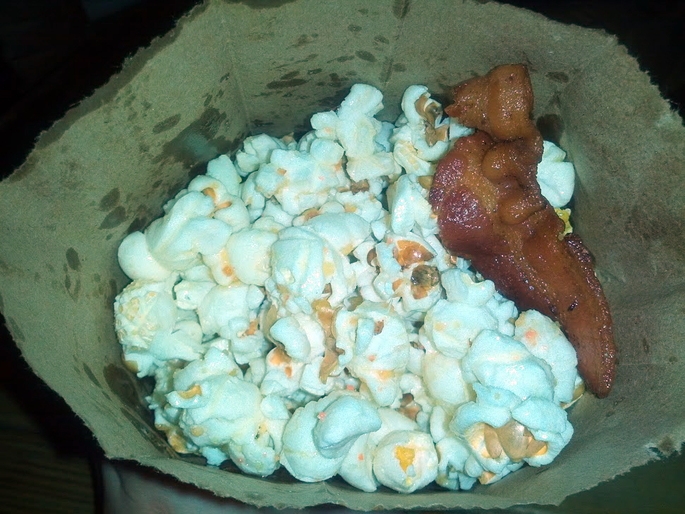 Bacon and truffle popcorn