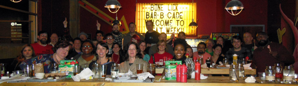 Meat Week Atlanta's Group shot at Bone Lick BBQ