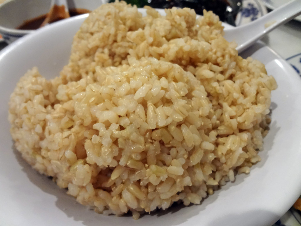 Tasty brown rice at Harmony