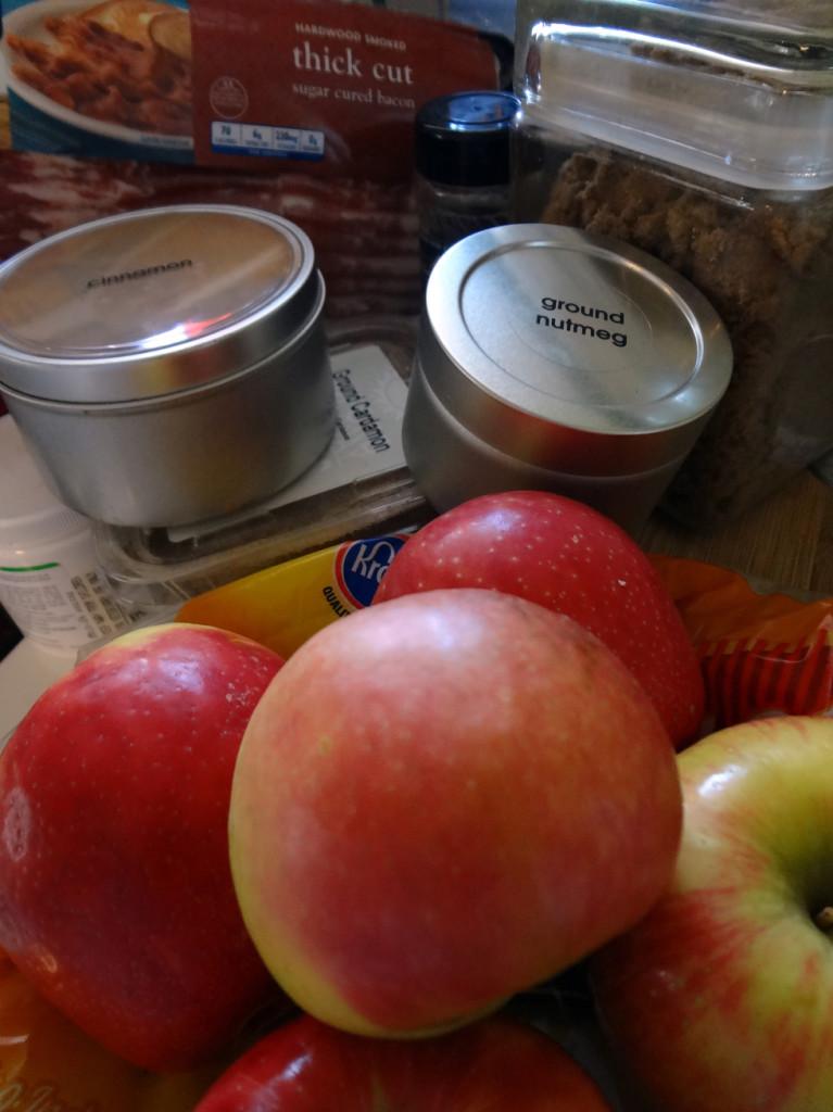 Bacon Apple Pie Ingredients