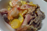 Bacon Week: Bacon, Sausage, Shrimp, Squash Casserole