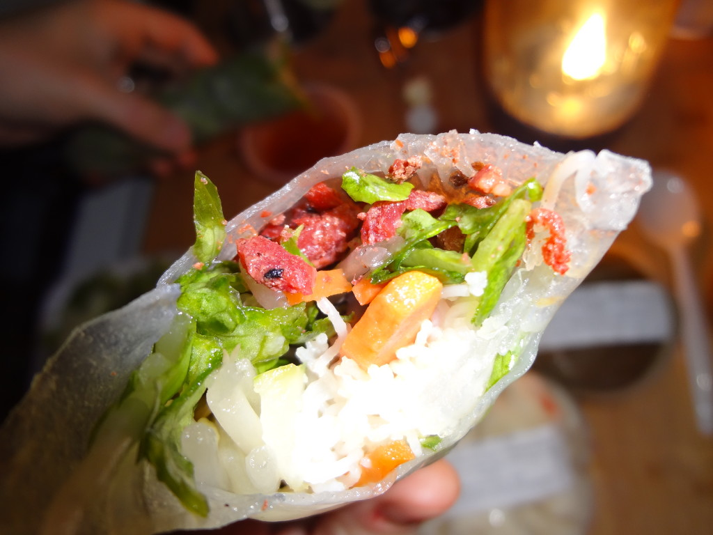Mystery spring rolls from Viet Tofu Chamblee