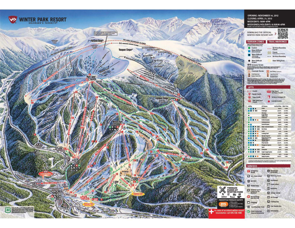 Winter Park Trail Map from http://www.winterparkresort.com/