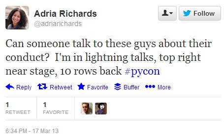 Adria Richards' Tweet