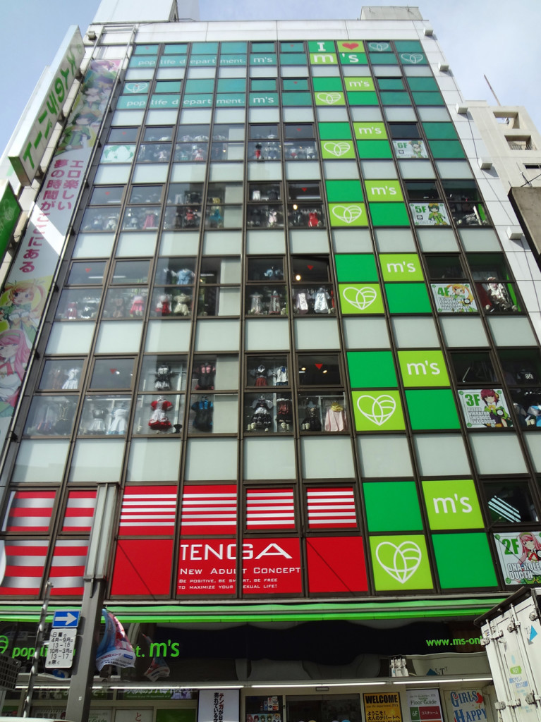 Seven story fetish shop in Akihabra