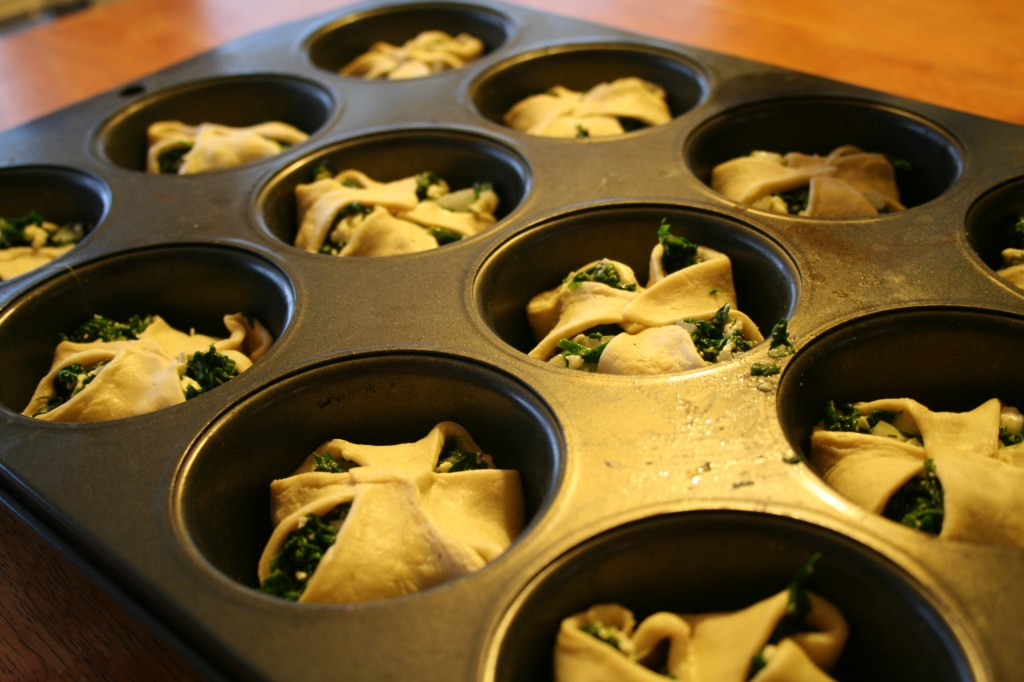 Folded Spinach Puffs