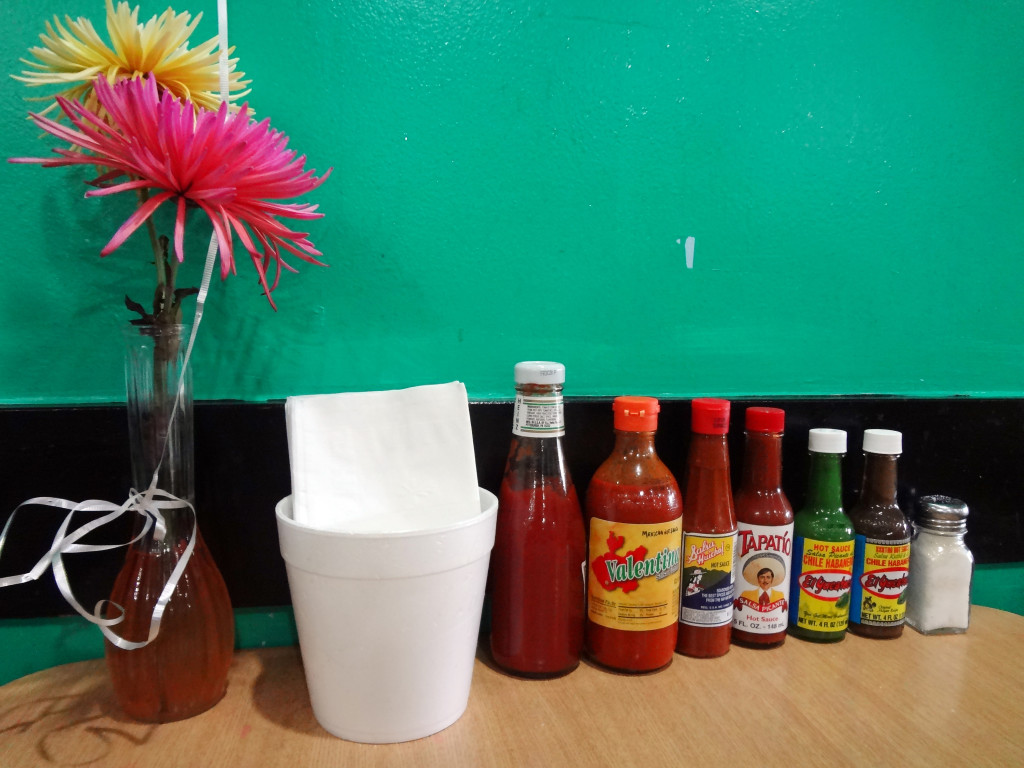 Our table decor and sauces