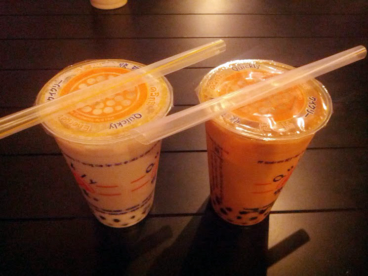 Royal Milk Bubble Tea and something I forgot
