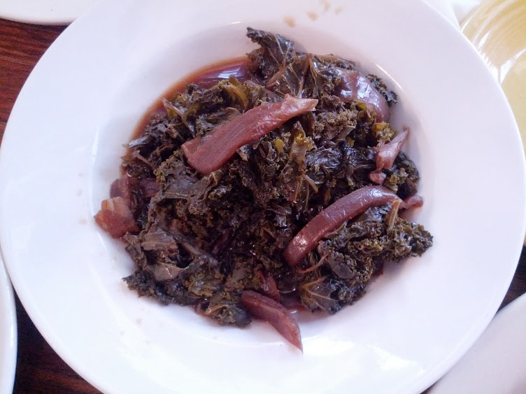 Braised Kale with vidalias