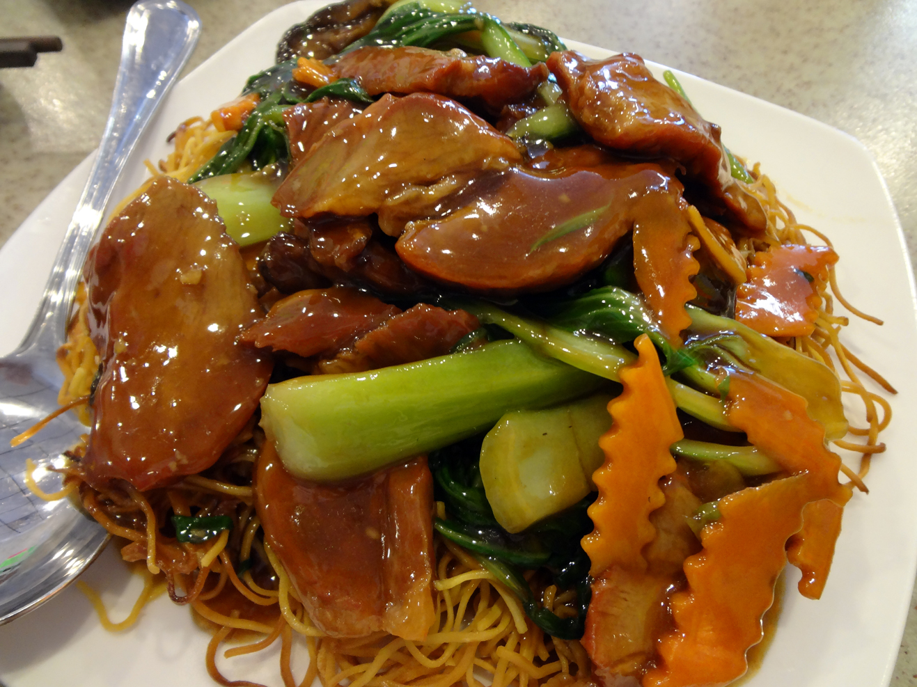 Honey Roast BBQ Pork Fried Noodles from Mings BBQ