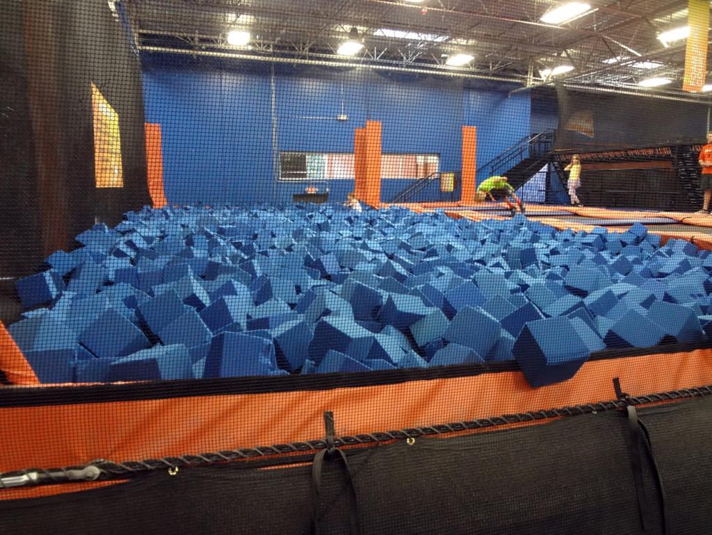 The foam pit