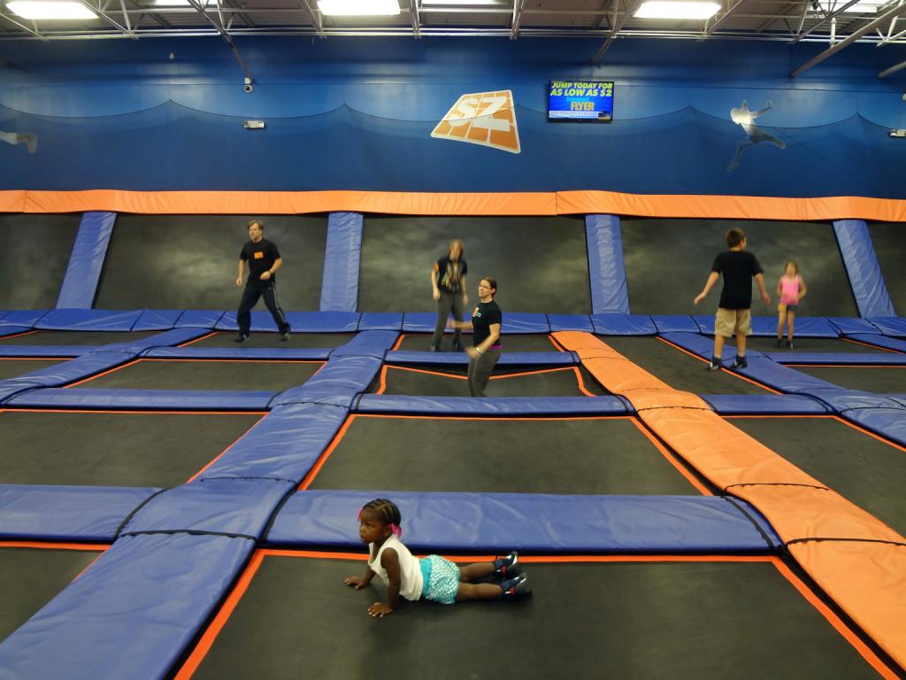 Indoor trampoline park