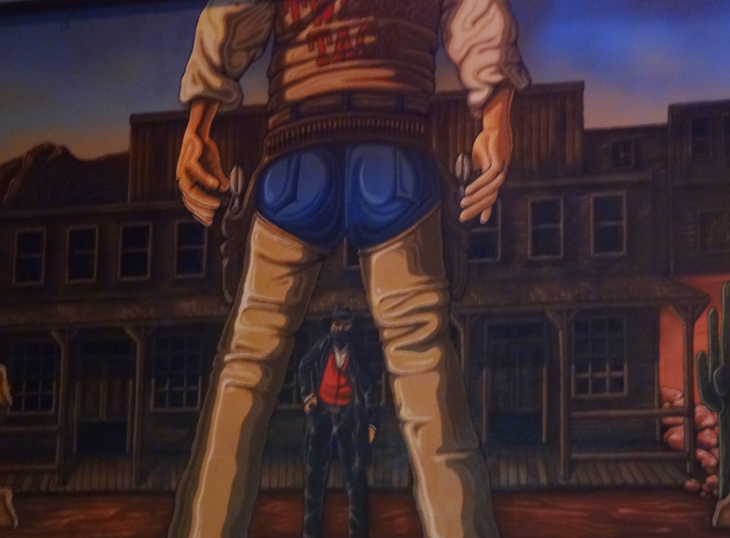 Close-up of the mural. Butt.