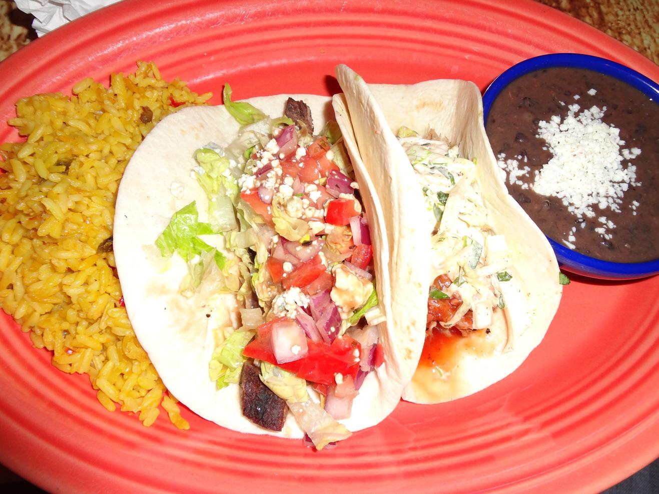 Twisted Taco 2-taco combo: Black & Bleu and Pulled Pork