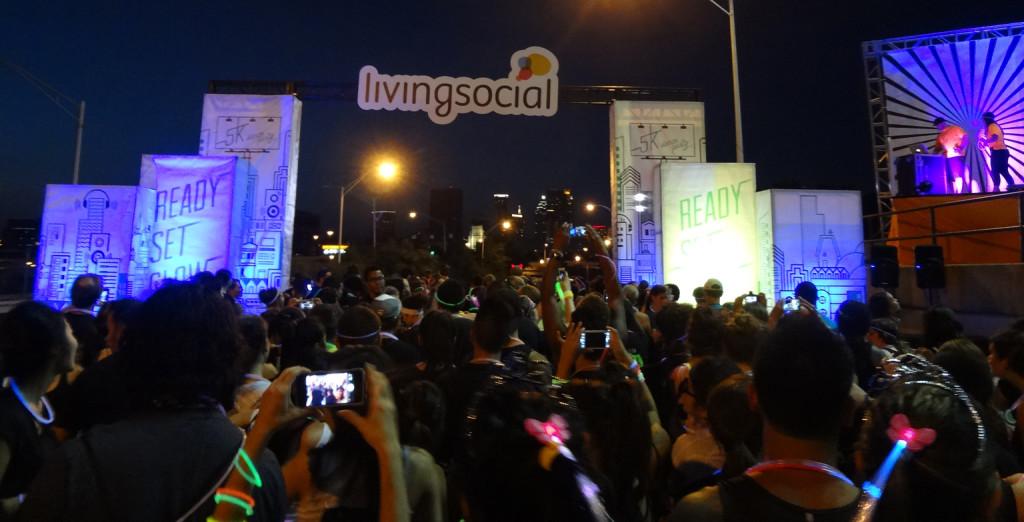 Living Social Glow in Dark 5k