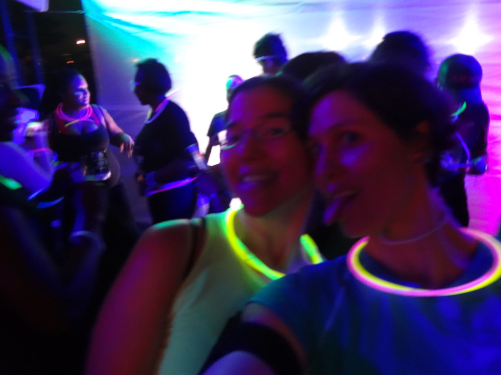 Taking a quick pic in the glow tunnel