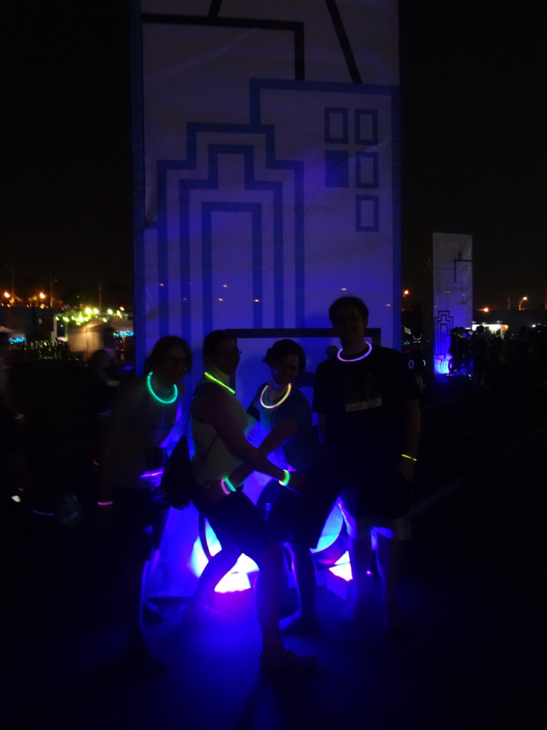 Posing after the glow race