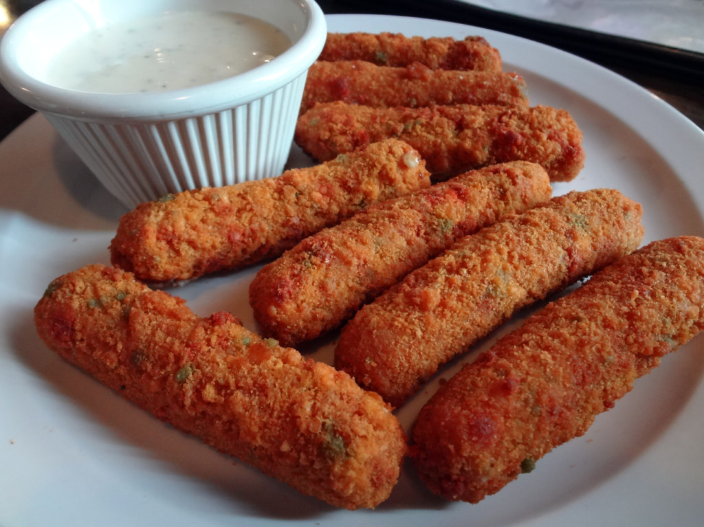 Fire Sticks - spicy mozzarella sticks with ranch