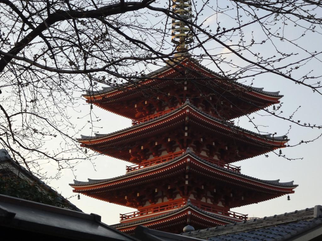 Pagoda at Sensō-ji Japan's oldest Buddhist Temple