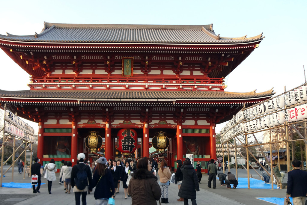 "宝蔵門 ""Treasure-House Gate"" Hozomon at Sensoji Temple"