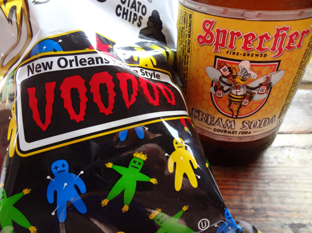 Zapp's Voodoo chips and Sprecher cream soda