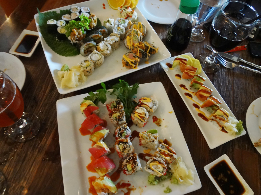 Our lunchtime spread at Bua Thai and Sushi