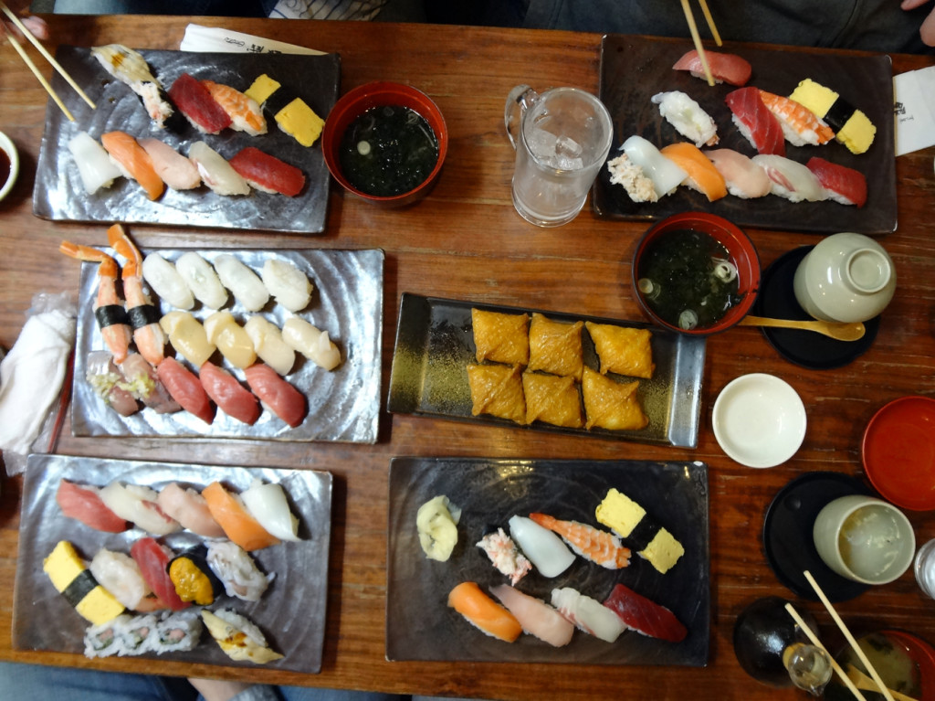 Ginzo in Tokyo - all our sushi