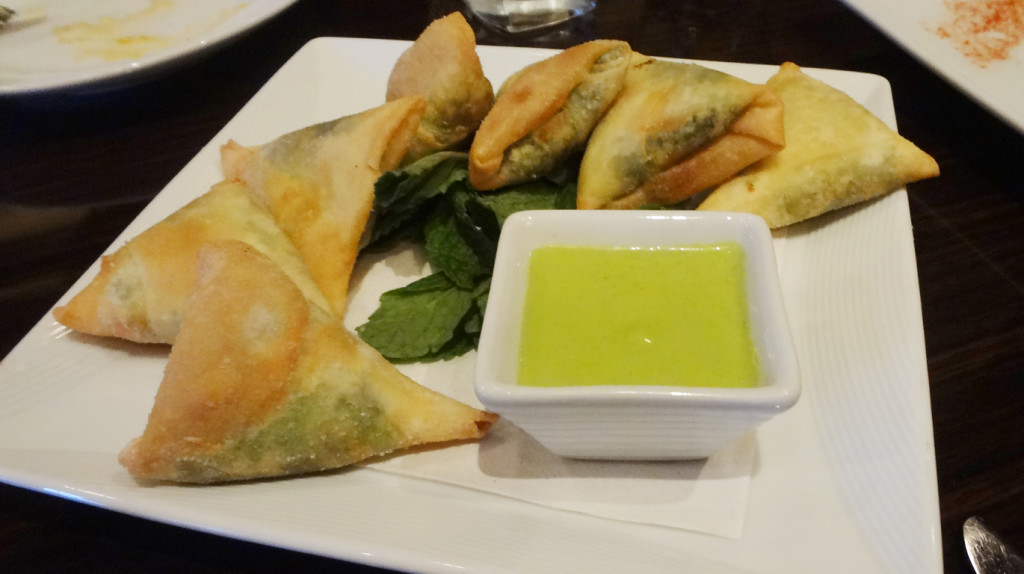 Mushy Peas and Paneer Samosas
