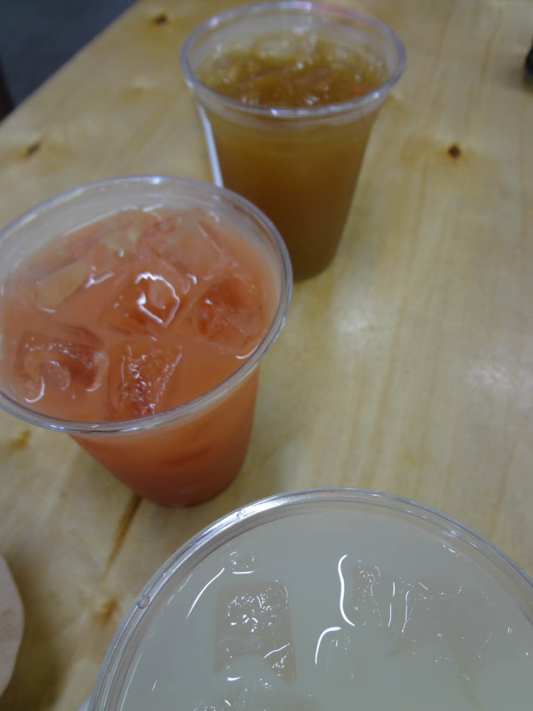 Mia Arepa fresh fruit drinks