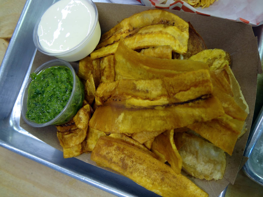 Tostones chips from Arepa Mia