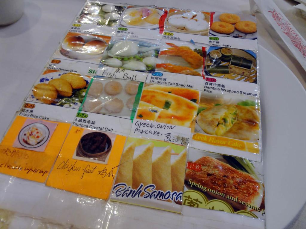 Dim Sum Heaven - dim sum menu