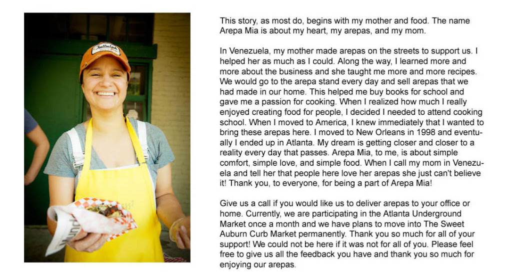 Mia Arepa background story