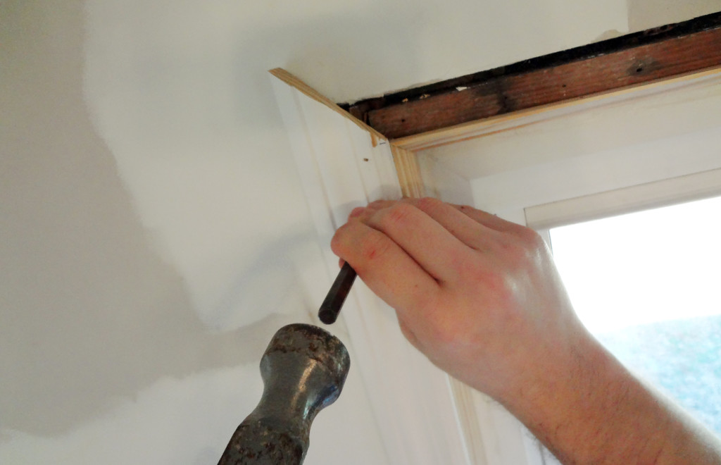 Remodeling an old den – adding the trim back