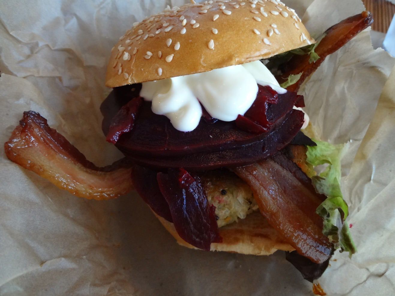 Farm Burger's No. 2 with bacon