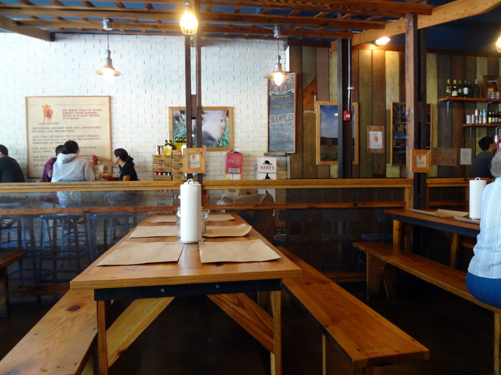 Farm Burger Decatur Interior
