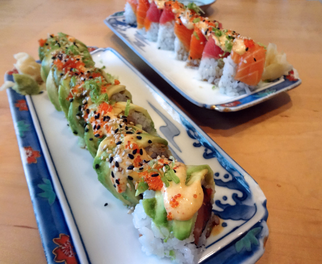 The Geisha Roll and the Lambada Roll