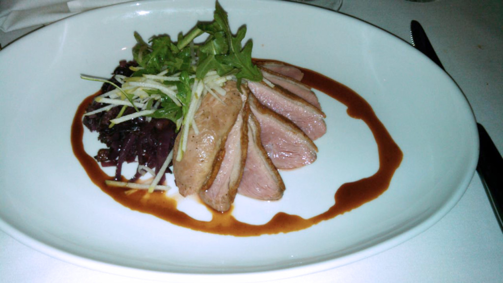 Aria Steakhouse duck