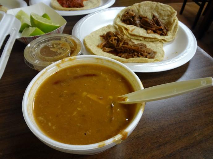El Autentico Sinaloense Pollos Asados Beans and tacos