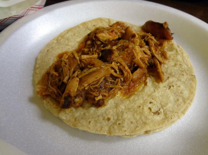 Autentico Sinaloense barbecue lamb taco