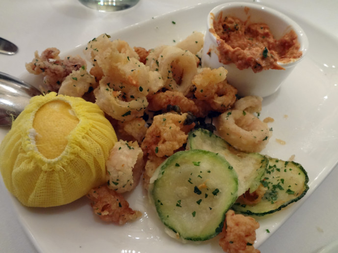 Some calamari and aioli