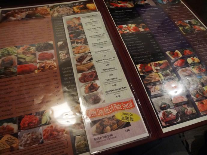 Shoya Izakaya menu