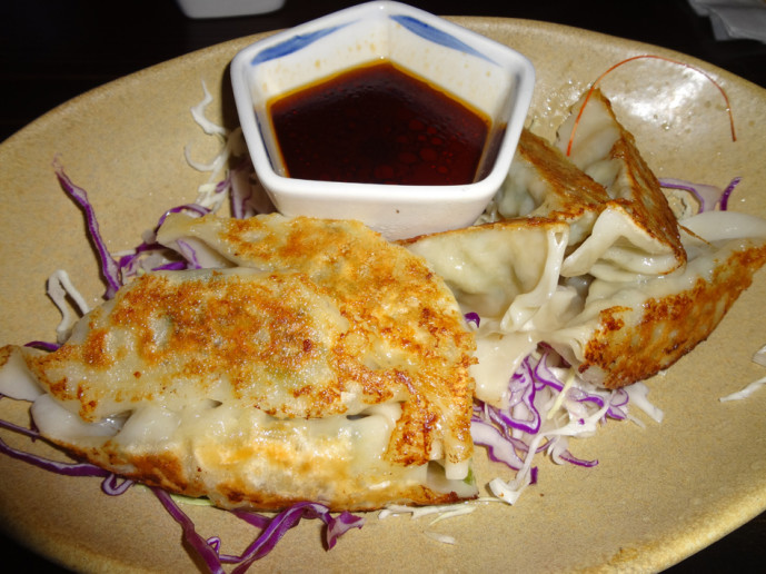 Pork gyoza at the izakaya