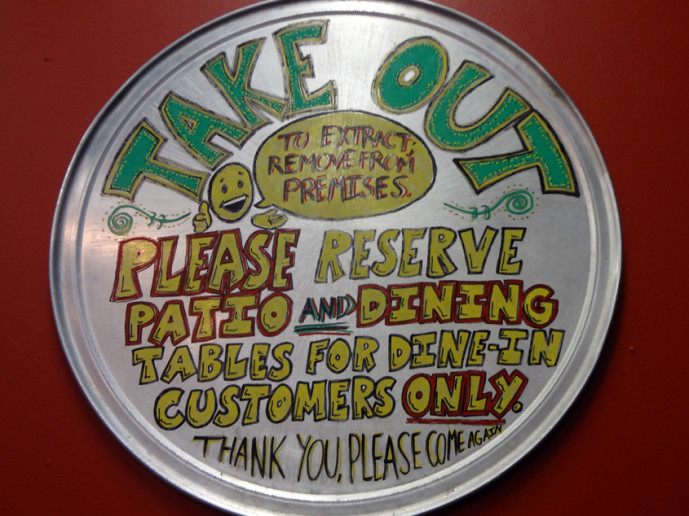 Marietta Pizza Company takeout counter