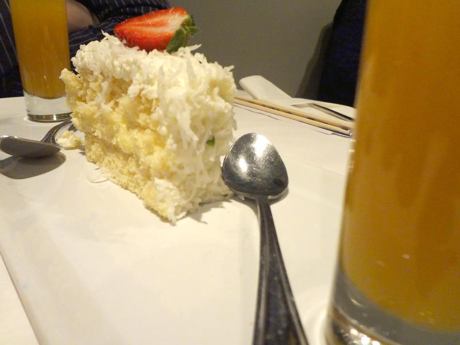 Fuji Hana & Thai Peppers Coconut Cream Cake