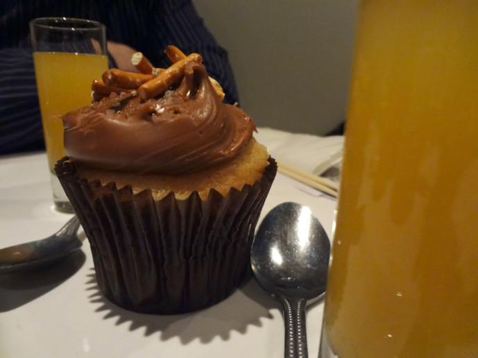 Fuji Hana & Thai Peppers Salted Caramel Pretzel Cupcake