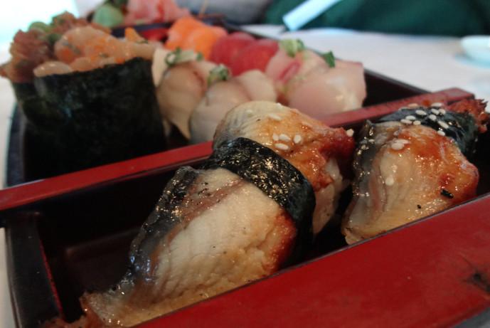 Fuji Hana sushi boat full of sashimi