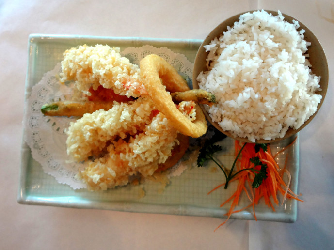 Fuji Hana tempura shrimp and veggies