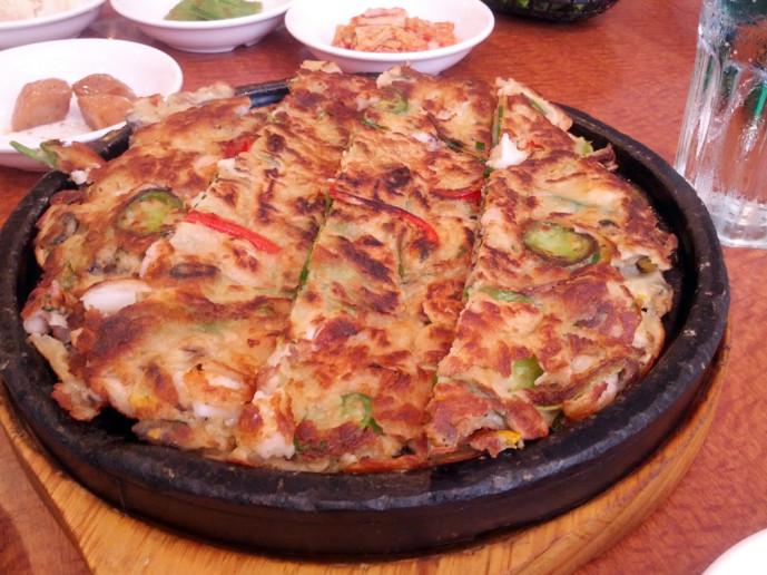 Han Il Kwan seafood pancake